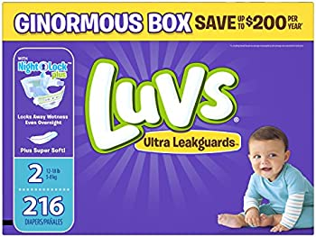 Luvs Ultra Leakguards Size 2 Diapers (216-Ct.)