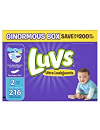 Luvs Ultra Leakguards Diapers Size 2, 216 Count BOBEBE Online Baby Store From New York to Miami and Los Angeles