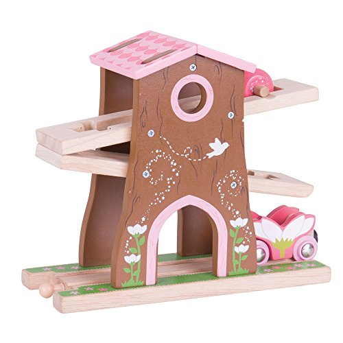 Bigjigs Rail Wooden Pixie Dust Tree House - Wooden Tran Set -