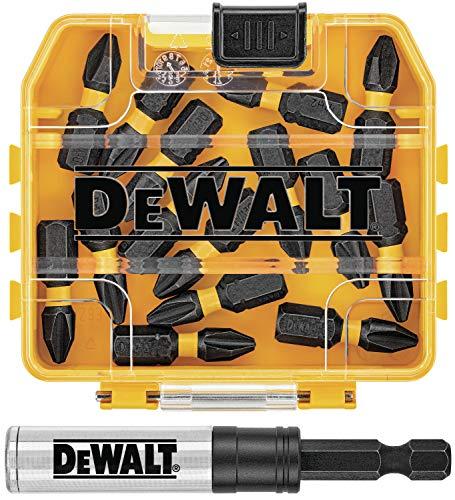 DEWALT FlexTorq Impact Driver Bit Set, Phillips, 1/4-Inch x 1-Inch, 15-Piece (DWA3HLD1PH2-15)