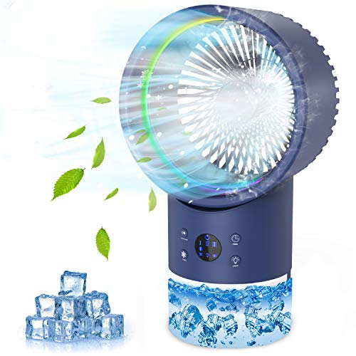 Portable Air Conditioner Fan,Personal Air Cooler with Mist Humidifier, Mini Evaporative Air Cooler