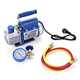 Vacuum Pump Kit for Air Conditioning/Refrigerator with Pressure Gauge Tube,220V 150W