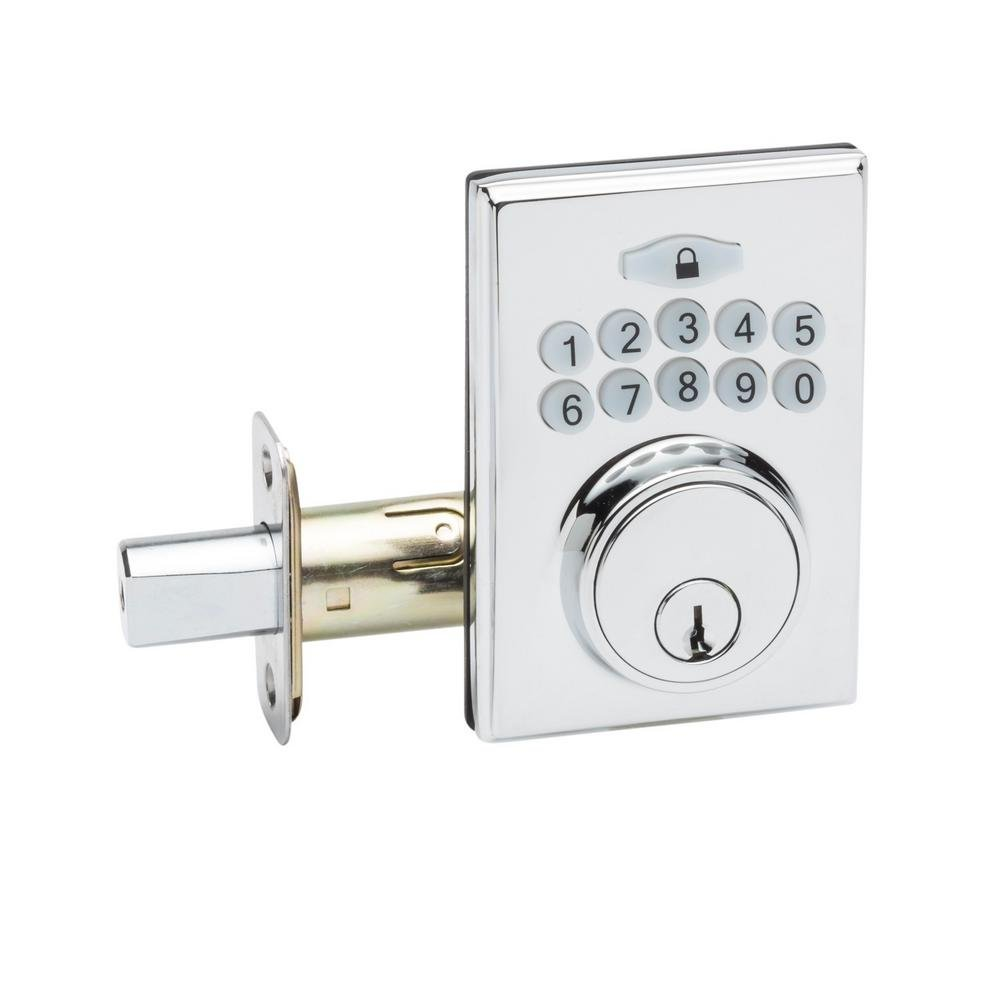 Copper Creek DBF3410PS Square Electronic Keypad Deadbolt, Polished Stainless