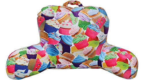 iscream 'Colorful Cupcakes' Silky Soft Plush Lounge and Reading Bed Support Pillow