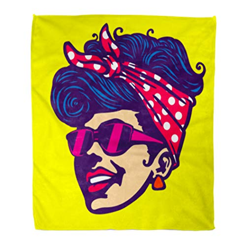 50s Hairdos - Golee Throw Blanket Character Vintage Retro