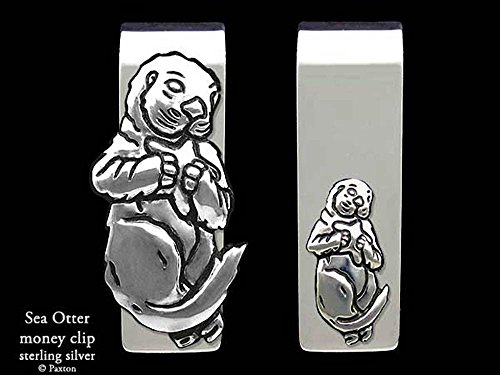 Sea Otter Money Clip in Solid Sterling Silver Hand Carved, Cast & Fabricated by Paxton by Paxton Jewelry