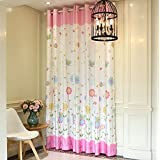 "LELVA Girls Bedroom Curtain Panel Kids Room Curtain Windows Drapes Baby Room Thermal Insulated Blackout Grommet Curtain 2 Piece (W37"" X L95"")"