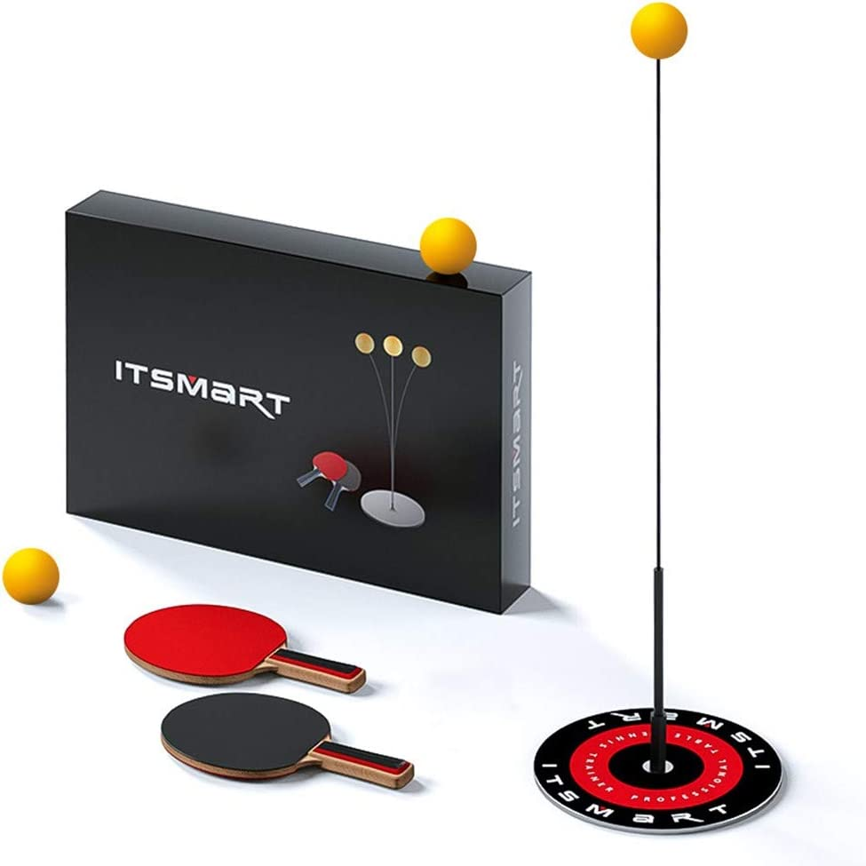 QYWJ Entrenador De Ping Pong, Kit de Tenis de Mesa autodidacta con Eje Blando elástico, balón de Entrenamiento de descompresión para Uso en Interiores o Exteriores