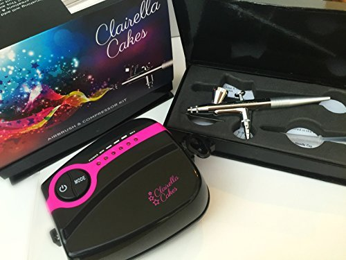 Award winning Clairella Cakes Airbrush and compressor - ideal for cake decoration with 5 speed settings CBAB001USA