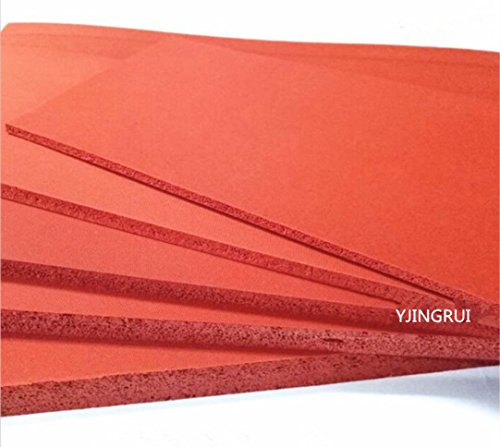 - 500X500X5mm Silicone Sponge Sheet, 500mm Width, 5mm Thickness, Closed Cell Foam Silikon Sheet, RED Color