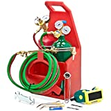 Professional Portable Torch Kit Oxygen Acetylene Oxy Welding Cutting Victor-Style Tank Model:
