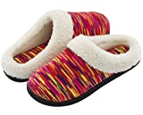 RockDove Women's Plush Woolen Memory Foam Slippers, Indoor Slip On House Shoes by 9-10 B(M) US, Rose Red