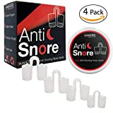 Elite 4-Pack Anti Snoring Nose Vents With Travel Case By SilentSleepPro: New, Upgraded Safe & Comfortable Reusable Elite Nasal Dilators For Instant & Natural Snore Relief-Best Breathing Aid