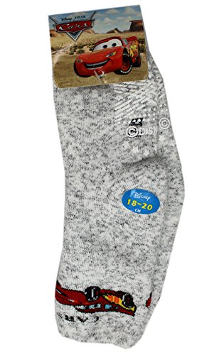 Disney Pixar's Cars Lightning McQueen White/Gray Socks (1 Pair, 18-20cm)