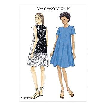 Vogue Damen Einfache Schnittmuster 9237 A Line, Rückseite Rüschen ...