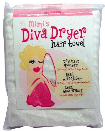 Aquis Mimi's Diva Dryer Hair Towel, Large, White1 ea by Aquis