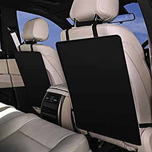 car seat protector kick mats by top choice luxury car seat protector set of 2. Black Bedroom Furniture Sets. Home Design Ideas