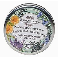 Boutique Herbal - Pomada Bio Muscular de Lavanda, Alcanfor, Enebro y Flores de Bach