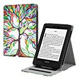 Fintie Flip Case for Kindle Paperwhite (Fits All-New 10th Generation 2018 / All Paperwhite Generations) - Slim Fit Vertical Multi-Viewing Stand Cover with Auto Sleep/Wake, Love Tree