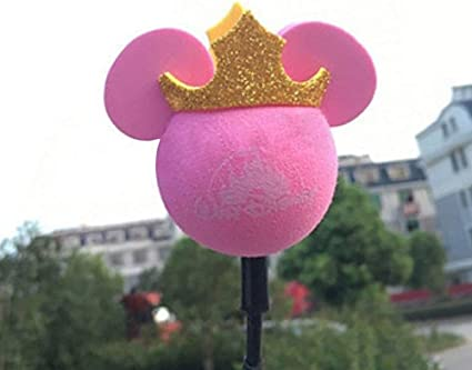 Bola de antena/linda antena Topper/Bolas de espuma para coche (Mickey rosa)