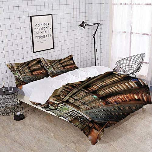XZBLCMWYBYYYQ Pharmacy So Many Drawers and Bottles Bedding Duvet Cover Setting Duvet Cover with Pillowcases Queen Bedding Sets for Kids and Family Home Decor Soft Comfy Simple