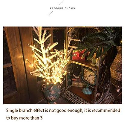 Donpow Luces de rama LED Luces decorativas alimentadas por bater/ía con 5 ramas 20 luces LED para habitaci/ón n/órdica Dormitorio Luz de noche peque/ña Barra transparente Decorativa Color 2pcs