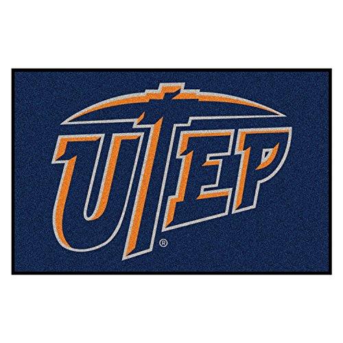 FANMATS NCAA UTEP Univ of Texas El Paso Miners Nylon Face Starter Rug