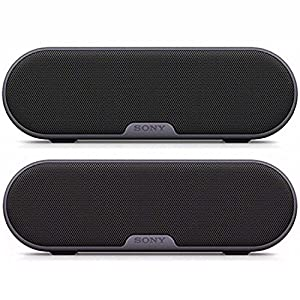 Sony SRSXB2/BLK Portable Wireless Speaker with Bluetooth (Black) Dual Pack Bundle