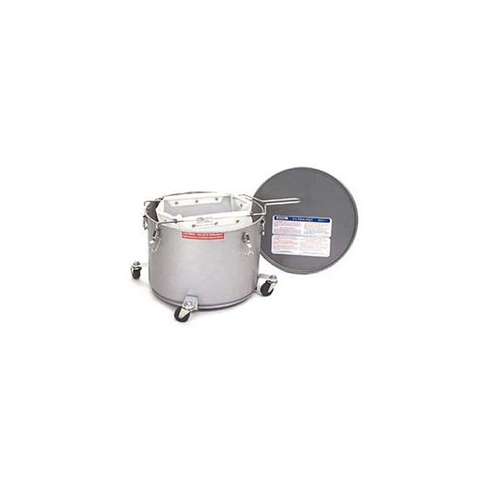 Miroil 40LC 35 Lb. Grease Bucket / Filter Pot With Casters by Miroil Filter