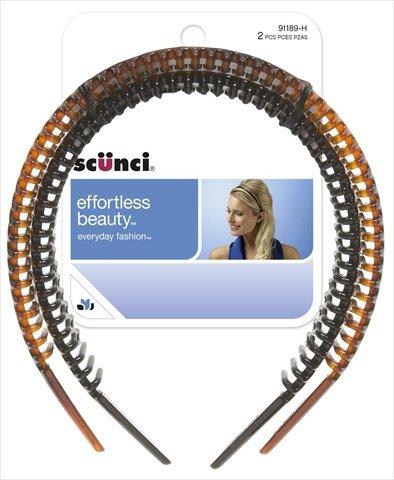 Scunci Narrow Comb Headband, Pack Of 3