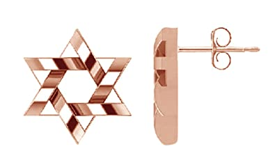 aa52268d6 Valentine's Day Gifts Hanukkah Holy Day Sale Messianic Star Of David Stud  Earrings in Rose Gold. Roll over image to zoom in. Jewel Zone US