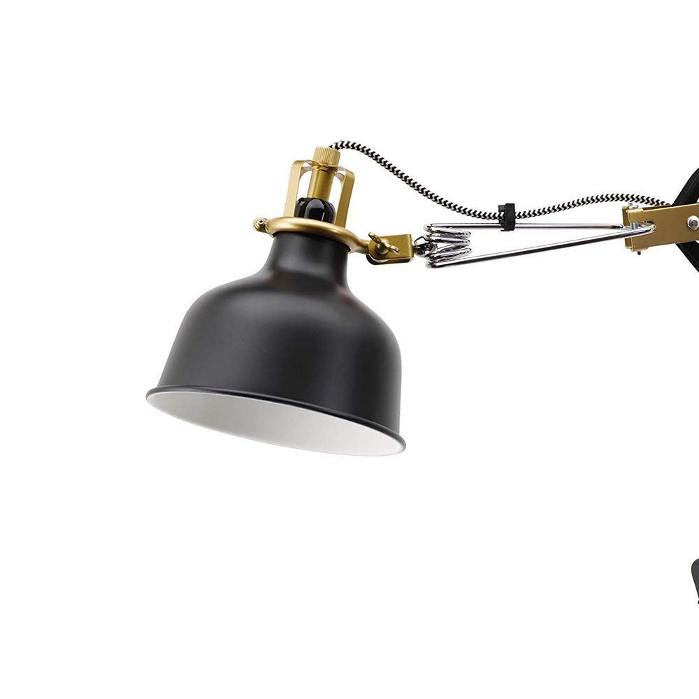 Ikea Clamp Wall Lamp Led Bulb Included Black Ranarp