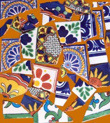 5 pcs Broken Tile Mosaic (By The Pound) (Southwestern Mosaic)