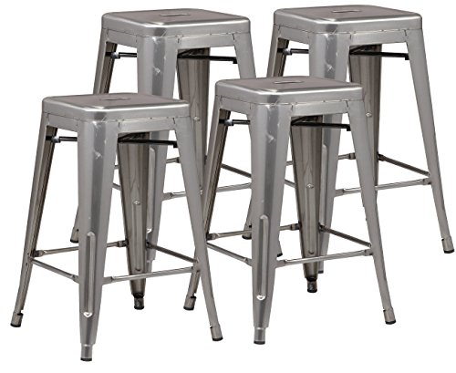 """Poly and Bark Trattoria 24"""" Counter Height Stool in Polished"""
