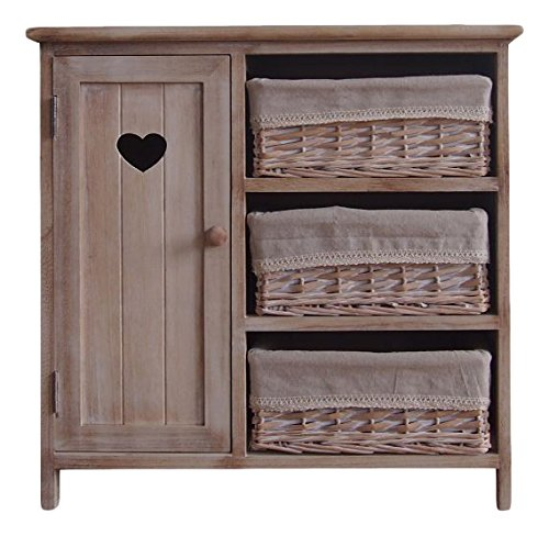 The Urban Port Antiqued Wood Cabinet (Wicker Kitchen Furniture)