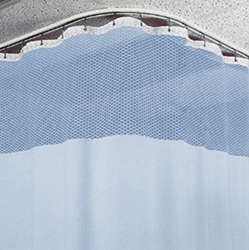 12ft Blue Medical Curtains Hospital Lab Clinic Room Decorative w/ Track- 9.5ft (Height Privacy Cubicle Curtain)