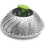 11''Multi-purpose Steam Pot Cage Basket,100% Stainless Steel Collapsible Vegetable Steamer Basket,pressure cooker crab leg steamer crab steamer pot egg cooker veggie rack