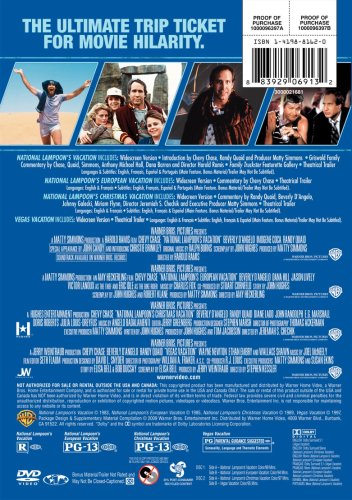 amazoncom the ultimate vacation collection national lampoons vacation vegas vacation european vacation christmas vacation various movies tv - National Lampoons Christmas Vacation Dvd
