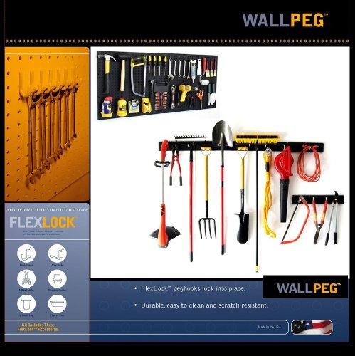 WallPeg Garden Tool Holder & Pegboard Tool Storage AM 242+044B-3 by WallPeg (Image #1)