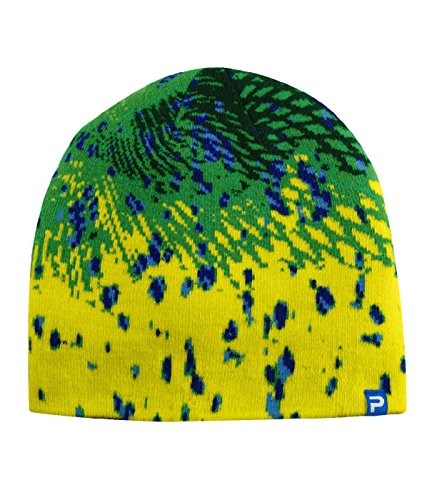 Print Reversible Beanie (Pelagic Psycho Dorado Reversible Beanie | Two-sided Ski Hat)