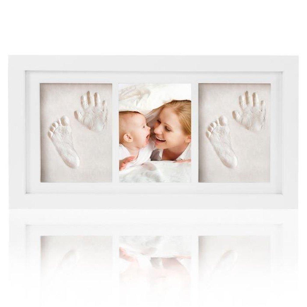 Ideal Newborn Gift - Baby Handprint & Footprint Kit Art Memorial Photo Frame - Memorable Keepsake for Newborn - Ideal Decorations for Room Wall - Toddlers Shower Christening Presents Set Gracelaza