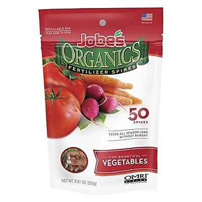 Jobes Organics Vegetable Fertilizer Spikes 2-7-4 - Pack of 50