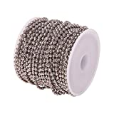 Airssory 32.8 Ft(10 Meters) Brass Ball Chains Metal