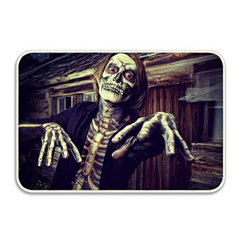 FunnyLife Holiday Halloween Costume Skeleton Doormat Rubber Non Slip Door Mat for Outdoor/Indoor Uses]()