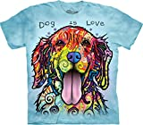 The Mountain Dog is Love T-Shirt, Large, Blue