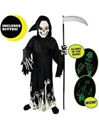 Kids Grim Reaper Glow in The Dark Deluxe Phantom Costume