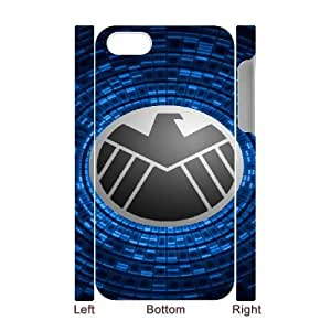 Protection Cover iphone4 4S 3D Cell Phone Case White Gcntg S.H.I.E.L.D Personalized Durable Cases