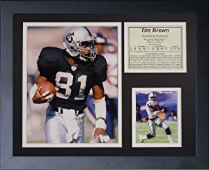"Legends Never Die ""Tim Brown Raiders"" Framed Photo Collage, 11 x 14-Inch"