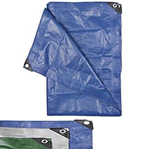 High Quality Tarpaulin Tarp Covers 90 g/m² - 300 x 400 cm - Blue