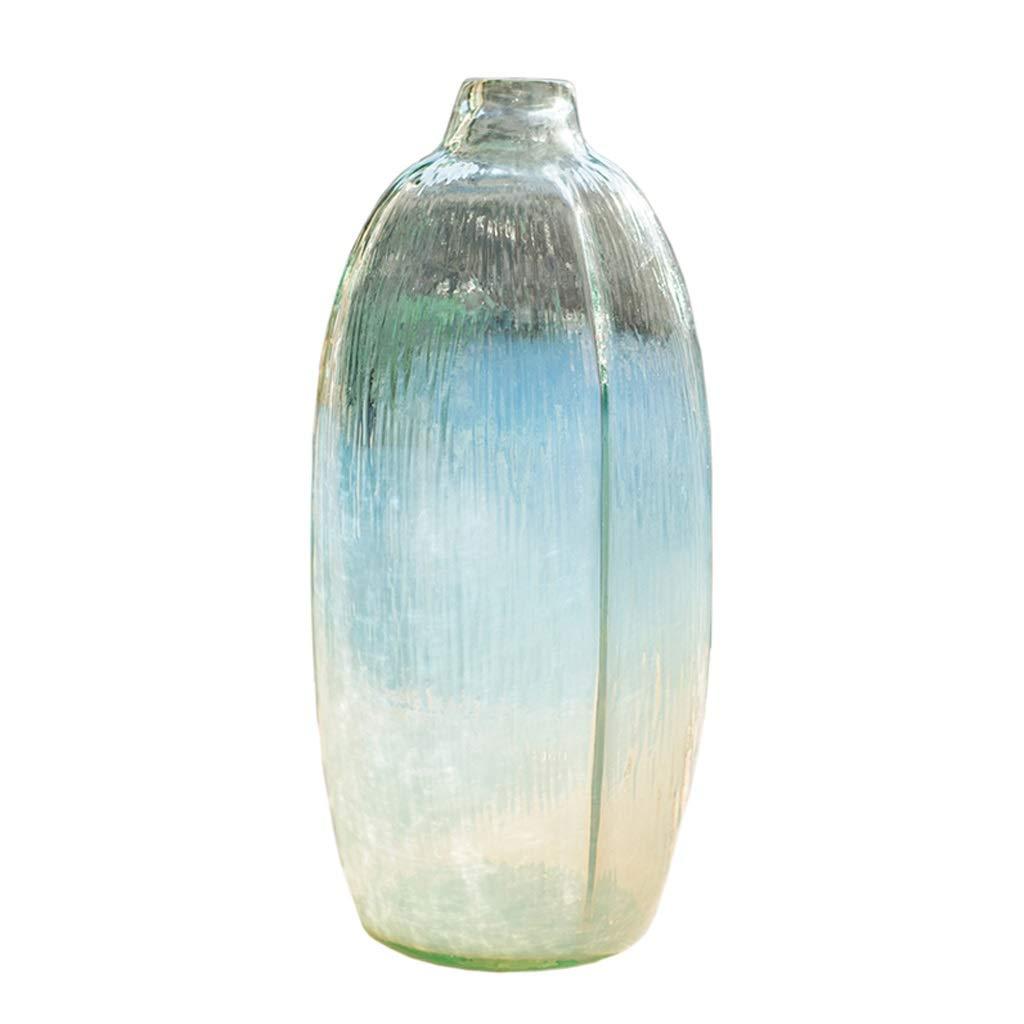 ドライフラワー水耕栽培植物、ホームオフィス35 cmのための理想的な卓上装飾のための透明なガラスの花瓶の瓶の背の高い瓶 B07SQ4GJGK